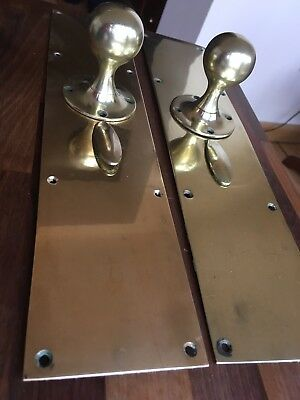 Victorian Brass Door Knobs With Large Finger Plates from my Asylum collection