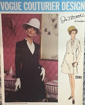 VOGUE COUTURIER DESIGN JO MATTLI OF LONDON 2241 BRAND NEW VINTAGE 1960's 14/36