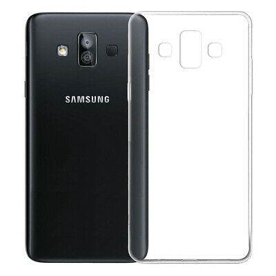 Soft Case For Samsung Galaxy J7 Duo J720F Ultra Thin Clear Silicone TPU Cover