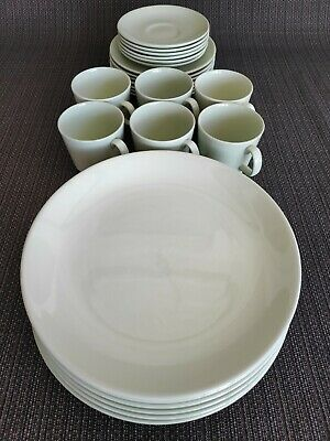 Dinner Set #1 - Vintage Johnson Brothers 24 piece (6 person) 1950's in celadon