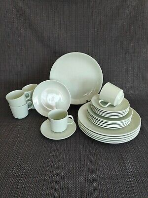 Dinner Set #2 - Vintage Johnson Brothers 24 piece (6 person) 1950's in celadon