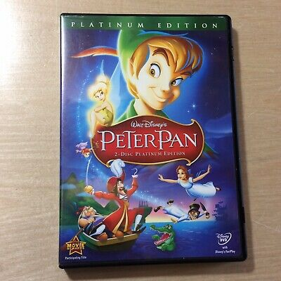 Walt Disney Peter Pan (DVD, 2007, 2-Disc Set, Platinum Edition) Very Good