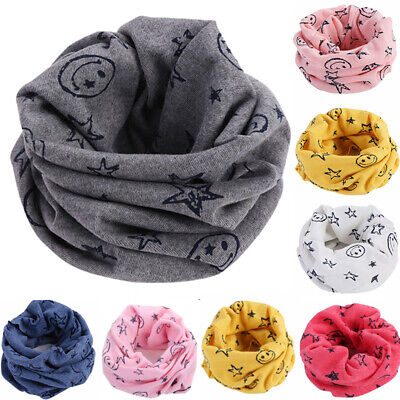 Kids Baby Boys Girls Children Warm Cotton Winter Snood Scarf Scarves Neckerchief