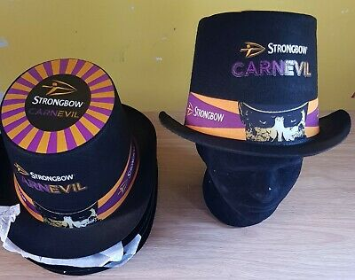 £10 FOR 3 Black Strongbow Carnevil Tophats