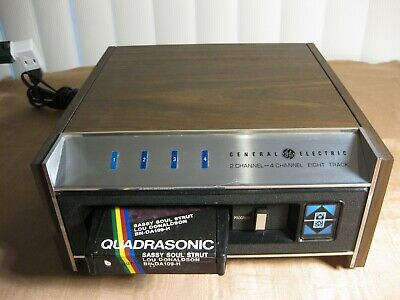 GE TA-400 QUADRAPHONIC 2/4 channel 8 track Player Serviced and Ready for Use.