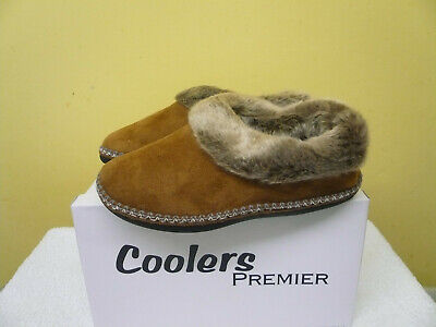 Ladies Boot Ankle Slippers Tan Velour Sizes 4-8 Uk Fur Lined   From Coolers