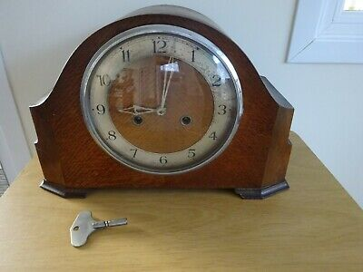 VINTAGE ENFIELD CHIMING CLOCK & KEY - stopped working.