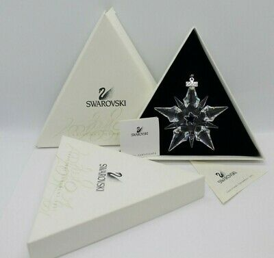 2001 Swarovski Annual Large Christmas Ornament Star Snowflake #267941