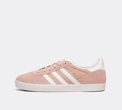 Adidas Originals Gazelle Womens Junior Girls Trainers Uk Size 5 Pink White Bnib
