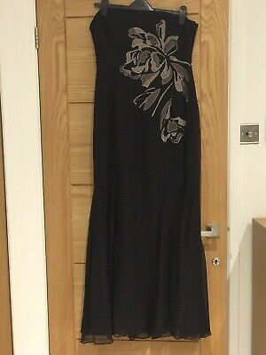 Coast Full Length Strapless Bodice Evening Dress - Size 14