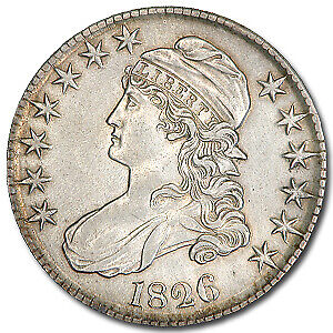 1826 Capped Bust Half Dollar AU - SKU#30979