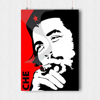 Che Guevara Poster Cuban Revolution Image  Military Wall Art Print -A4 A3 Size