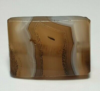 Ancient Rare Asia Minor Banded Agate Tabular Eye Bead