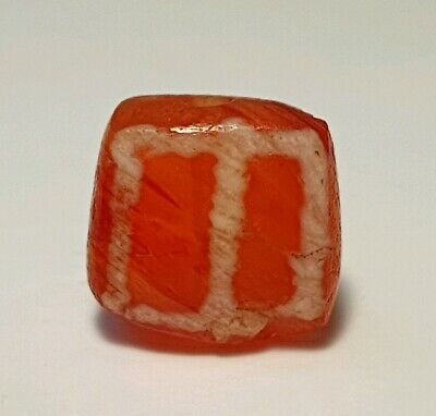 Ancient Large Indo-Tibetan Etched Carnelian Agate Bead