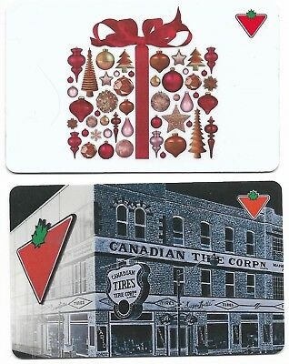 2 Collectible CANADIAN TIRE CanTire gift cards Canada Kanada