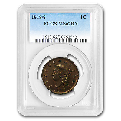 1819/8 Large Cent MS-62 PCGS (Brown) - SKU#191101
