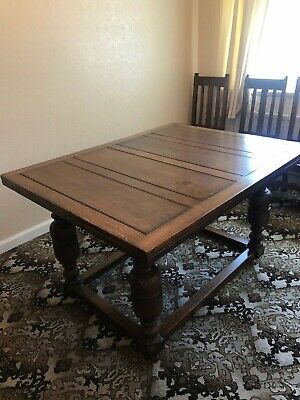 Antique Oak Draw Leaf Table