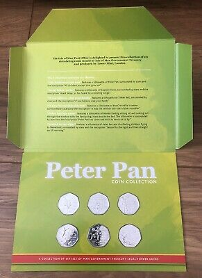 The Official Peter Pan 2019 50p Coin Collection BUNC - 6 Coins - Full Set