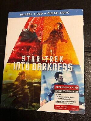 Star Trek: Into Darkness (Blu-ray, DVD) w/ Target Exclusive Slipcover