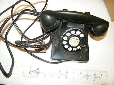 vintage black bell system western electric f-1 dial telephone