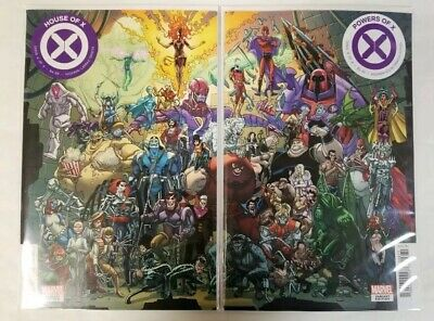 Marvel Comics X-MEN HOUSE OF X & POWERS OF X #6 CONNECTING VARIANT COVER SET NM