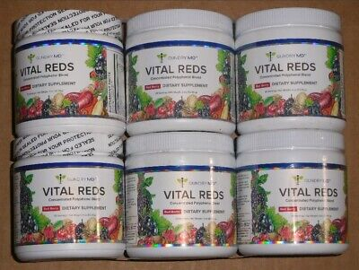 Bundle of 6 GUNDRY MD Vital Reds Concentrated Polyphenol Blend, Red Berry, 4 oz