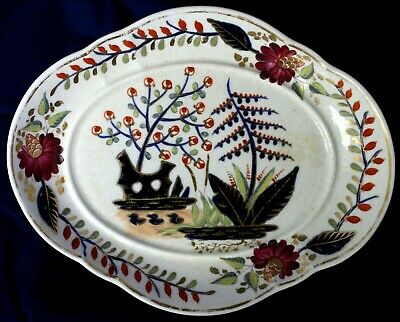 Antique Royal Crown Derby Serving Bowl Hand Painted - Made In England