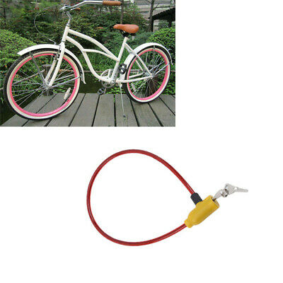 Steel Cable 90cm Spiral Security Lock Mountain Bike Cycling Bicycle Chain+2 Keys