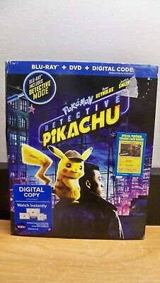 New Not Seal Pokemon Detective Pikachu Blu Ray Dvd Digital Trading  Card