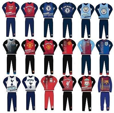 Kids Boys Authentic Official Football Pjs Pyjamas Sleepwear Age 2 to 12 Years