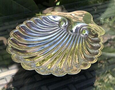 Solid Sterling Silver Hallmarked Antique Ornate Shell Style Dish Bowl