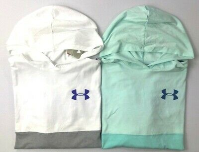 Girl's Youth Under Armour Heatgear Loose Fit Long Sleeve Hooded Shirt