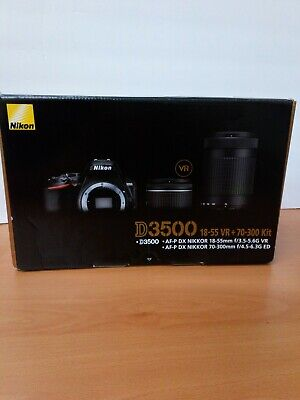 Nikon D3500 DSLR Camera with 18-55mm and 70-300mm Lenses -Pre Owned Read details