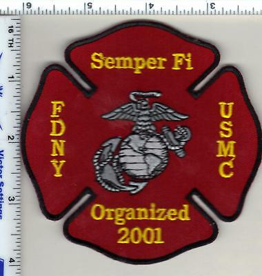 New York City Fire Department / United States Marine Corps Assoc. Shoulder Patch