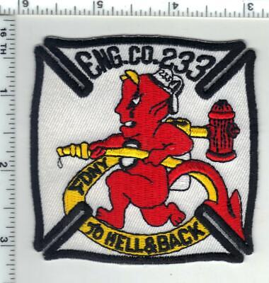 """New York City """"To Hell & Back"""" Fire Department Shoulder Patch E-233 Brooklyn"""