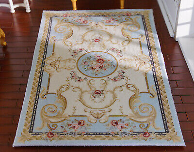 Beautiful Dollhouse Miniature Fresh Oliver Victorian Floral Roses 1//12 Lace Rug