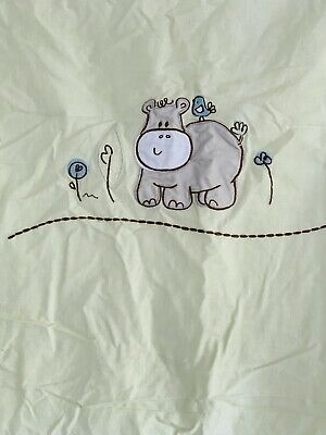 LIVING TEXTILES BABY LITTLE HIPPO COT QUILT COVER. BRAND NEW. 90cm X 110cm.