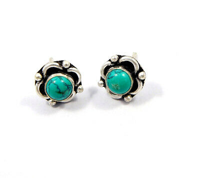Turquoise .925 Silver Plated Handmade Stud Earring Jewelry JC8185