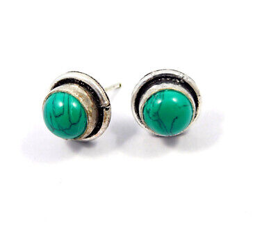 Turquoise .925 Silver Plated Handmade Stud Earring Jewelry JC8102