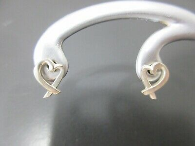 Authentic Tiffany & Co. Loving Heart Pierced Sterling Silver 925 Good 77560