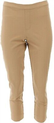 Isaac Mizrahi Fashionable 24/7 Stretch Ankle Pants Med Camel 8P NEW A261791