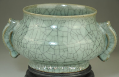 Collect china old Longquan porcelain natural cracked glaze incense burner /Db02B