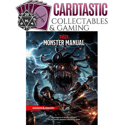 D&D Monster Manual - Hard Cover 5th Edition Book - Dungeons and Dragons