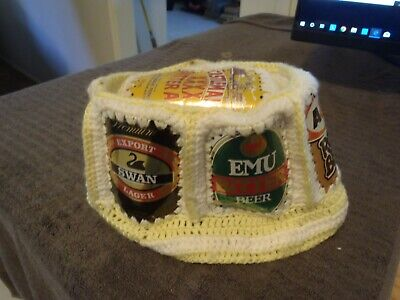 Retro Knitted Beer Can Hat / Beanie