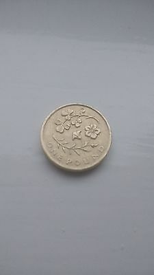 Irish Floral 2014 £1 One Pound Coin Flax And Shamrock Emblem Rare Ireland Flower