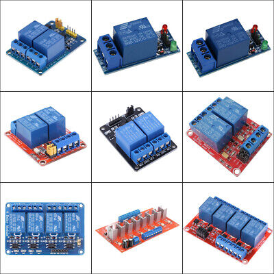 12V 1/2/4/8 Channel Relay Board Module w/Optocoupler LED for Arduino PiC ARM AVR
