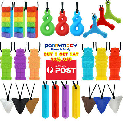 3 Packs Chew Necklaces for Sensory Autism Kids nail biting treatment for kids