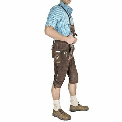 "NEW Leather Suede Lederhosen Gents Mens Oktoberfest Fancy Dress 38"" Waist"