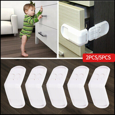 5x Baby Child Cupboard Cabinet Safety Locks Pet Proofing Door Drawer Fridge Kids