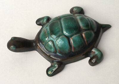"Blue Mountain Pottery BMP Canada Turtle 5"" Vintage Green Glaze"